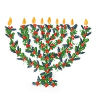 Holly Menorah